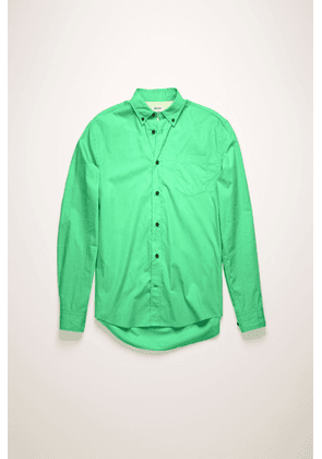Acne Studios FN-MN-SHIR000177 Spearmint green Classic cotton poplin shirt