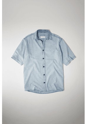Acne Studios SP-MN-SHIR000001 Light blue Short-sleeved denim shirt