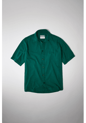 Acne Studios SP-MN-SHIR000002 Jade green Short-sleeved denim shirt