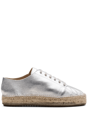 Car Shoe metallic-effect espadrilles