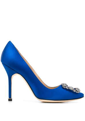 Manolo Blahnik Hangisi jewel buckle pumps - Blue