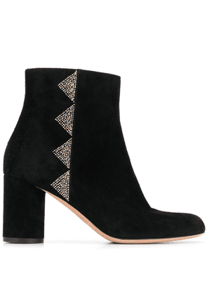 Bally Brenda studded block heel boots - Black
