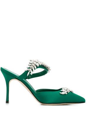 Manolo Blahnik Lurum embellished pumps - Green