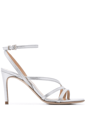 Paul Warmer strappy stiletto heel sandals - SILVER