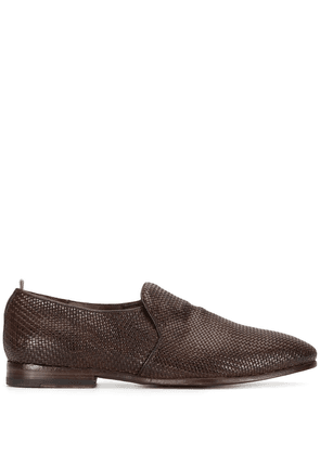 Officine Creative Revien/007 woven derby shoes - Brown
