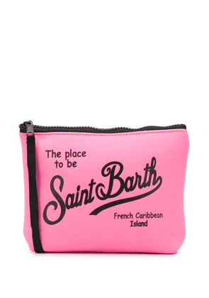 Mc2 Saint Barth logo print washbag - PINK