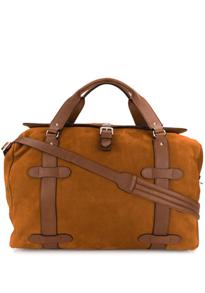 Brunello Cucinelli large two-tone holdall - Brown