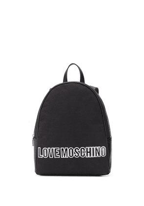 Love Moschino logo patch backpack - Black