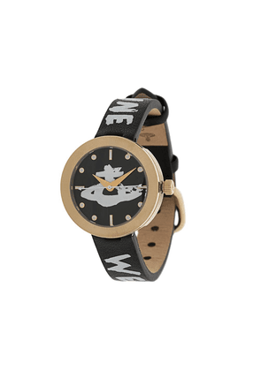 Vivienne Westwood Orb logo watch - Black