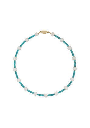 Timeless Pearly beaded charm necklace - Blue