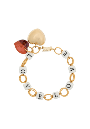 Timeless Pearly Love chain-link bracelet - GOLD