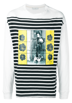 JW Anderson Gilbert & George transfer print long sleeve T-shirt -