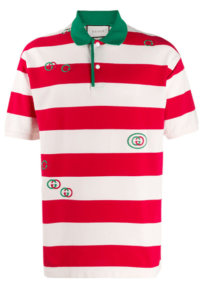 Gucci striped polo shirt - Red
