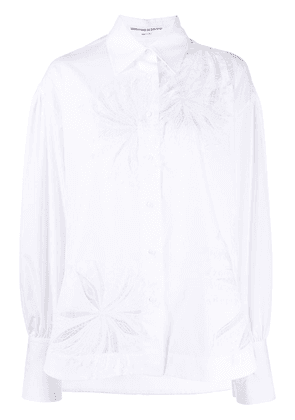 Ermanno Scervino peek-a-boo lace panelled shirt - White