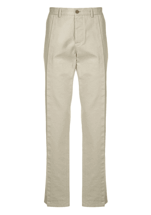 Maison Margiela front flap chino trousers - NEUTRALS