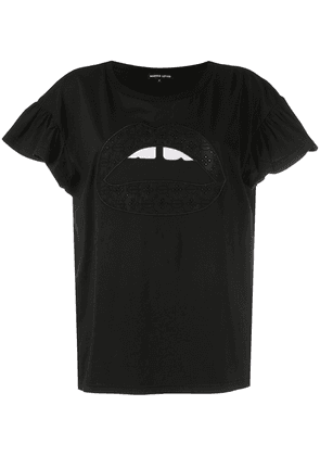 Markus Lupfer Nadia Iconic Lip T-shirt - Black