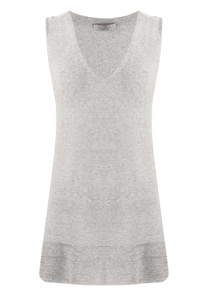 D.Exterior metallized knitted top - Grey