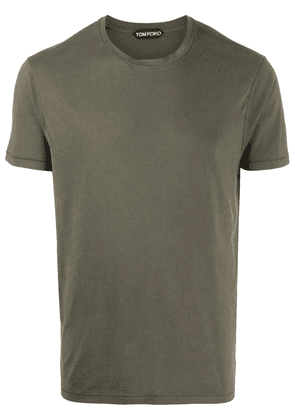 Tom Ford short-sleeved slim-fit T-shit - Green
