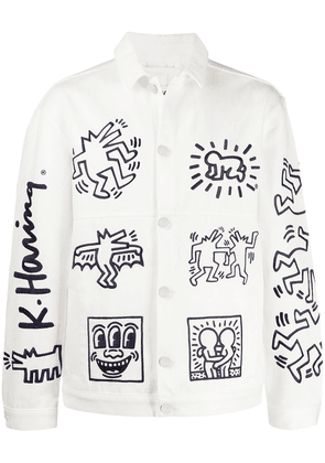 Etudes x Keith Haring Guest embroidered denim jacket - White
