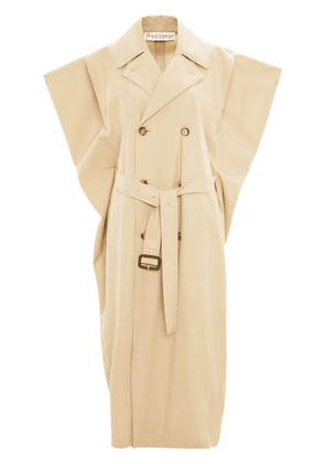 JW Anderson Kite sleeveless double-breasted trench coat - NEUTRALS