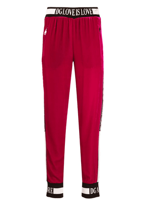 Dolce & Gabbana Love is love track trousers - PINK