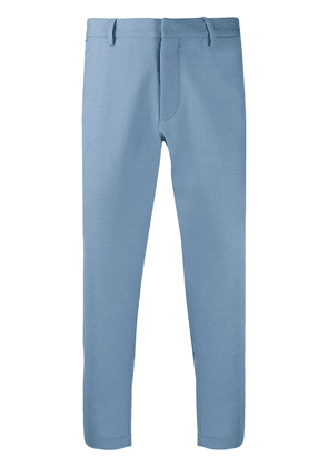 Caruso cropped tailored style trousers - Blue