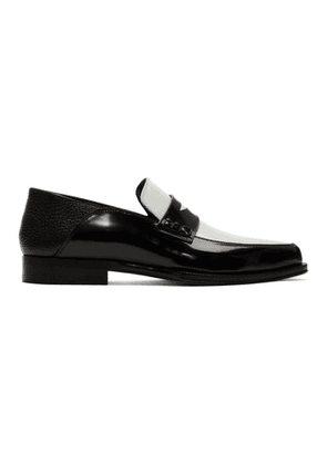 Loewe Black and White Pointy Loafers