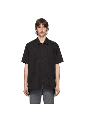 Cornerstone Black Zip Short Sleeve Shirt
