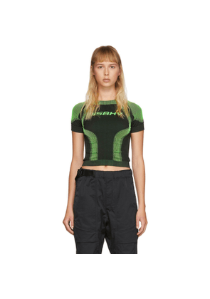 MISBHV Black and Green Active Cropped T-Shirt