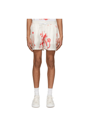 Tiger of Sweden Off-White Twolum Shorts