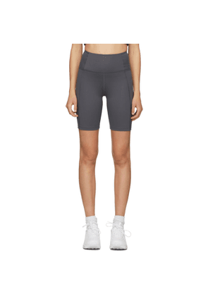 Girlfriend Collective Grey High-Rise Biker Shorts