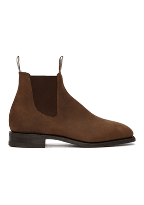R.M. Williams Brown Distressed Comfort Craftsman Chelsea Boots