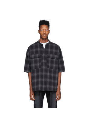 Fear of God Black and Grey Plaid Shirt