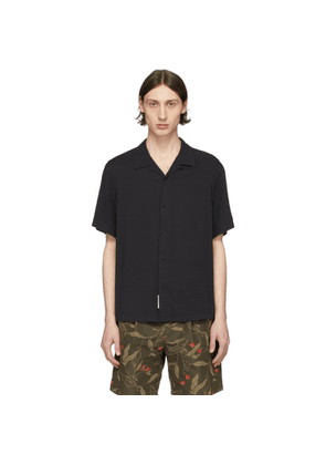 rag and bone Black Avery Short Sleeve Shirt