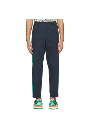 Kenzo Navy Canvas Tapered Lounge Pants
