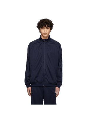 Doublet Navy Chaos Embroidery Track Jacket
