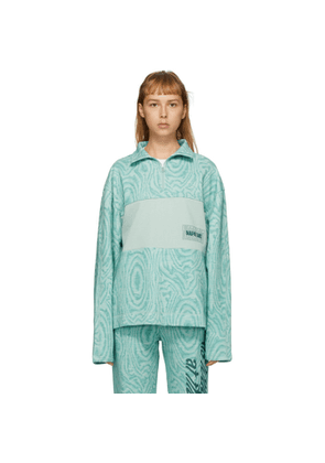 NAPA by Martine Rose Green B-Holywell Half-Zip Pullover