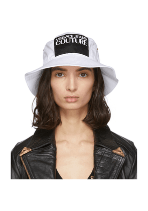 Versace Jeans Couture White Logo Bucket Hat