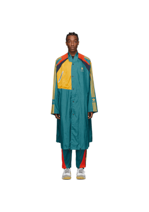 BED J.W. FORD Green and Multicolor adidas Originals Edition Long Coat