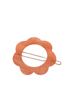France Luxe Posh Flower Tige Boule Barrette in Coral.