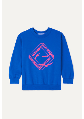 Paradised Kids - Neon Printed Cotton-blend Jersey Sweatshirt - Blue