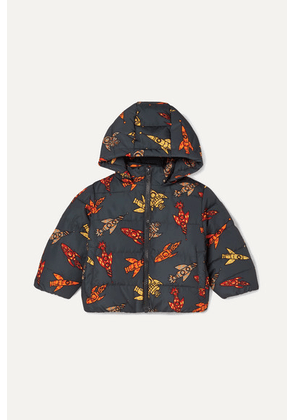 Stella McCartney Kids - Printed Quilted Shell Hooded Jacket - Black