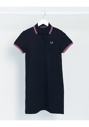 Fred Perry twin tipped dress in navy