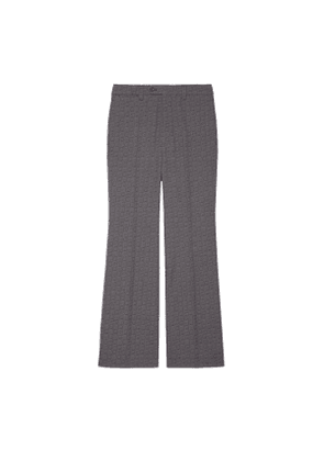 G hexagon grisaille wool flare trousers
