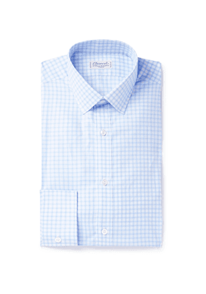 Charvet - Checked Cotton Shirt - Men - Blue