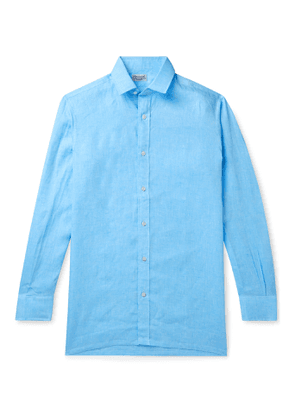 Charvet - Linen Shirt - Men - Blue