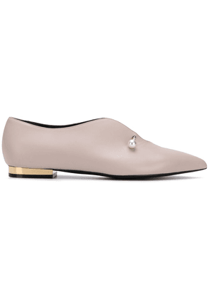 Coliac pearl pin loafers - PINK