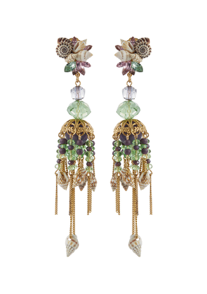 'Enchanted World' seashell cluster chandelier drop earrings