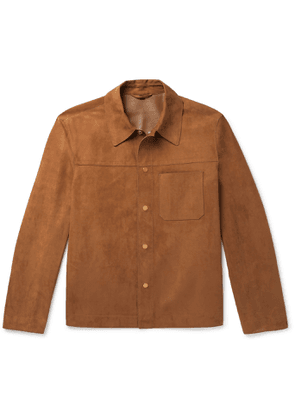 Dunhill - Suede Overshirt - Men - Brown