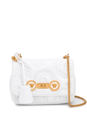 Versace baroque quilted crossbody bag - White